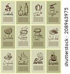 set for menu design.set... | Shutterstock .eps vector #208963975