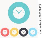 clock icon   vector illustration | Shutterstock .eps vector #208968199