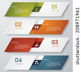 design clean number banners... | Shutterstock .eps vector #208971961