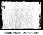 grunge frame  | Shutterstock .eps vector #208973509