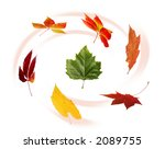 colorful image of autumn leaves | Shutterstock . vector #2089755