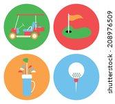 golf collection   vector... | Shutterstock .eps vector #208976509