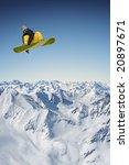 jumping snowboarder | Shutterstock . vector #20897671