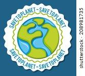 environmental design over blue  ... | Shutterstock .eps vector #208981735