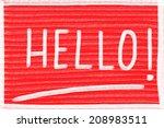 hello concept | Shutterstock . vector #208983511