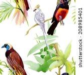 watercolor seamless pattern... | Shutterstock .eps vector #208985401