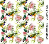 watercolor seamless pattern... | Shutterstock .eps vector #208985431
