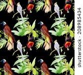 watercolor seamless pattern... | Shutterstock .eps vector #208985434
