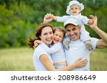 family lifestyle portrait of a... | Shutterstock . vector #208986649