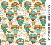 cute seamless pattern with hot... | Shutterstock .eps vector #208994701