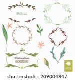 hand painted watercolor design... | Shutterstock .eps vector #209004847