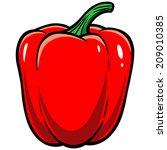 red bell pepper | Shutterstock .eps vector #209010385