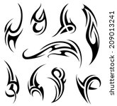 tribal tattoo | Shutterstock .eps vector #209013241