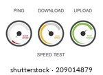 speedometers with download speed | Shutterstock .eps vector #209014879