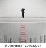 a concept of competition  and... | Shutterstock . vector #209032714