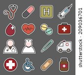 medical icons | Shutterstock .eps vector #209036701