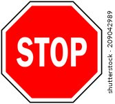 stop sign | Shutterstock .eps vector #209042989