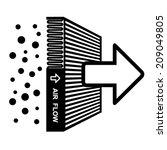 vector air filter effect symbol | Shutterstock .eps vector #209049805