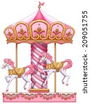 Illustration Of A Carousel Rid...