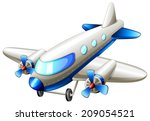 illustration of a vintage blue... | Shutterstock .eps vector #209054521