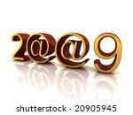 new year numbers and email sign | Shutterstock . vector #20905945