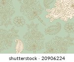light green ornamental... | Shutterstock .eps vector #20906224