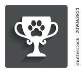 winner pets cup sign icon....