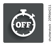 timer off sign icon. stopwatch...