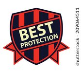 red and navy best protection... | Shutterstock . vector #209064511