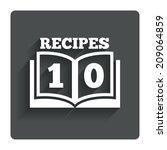 cookbook sign icon. 10 recipes...