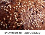 Texture Of Bread With Cereals
