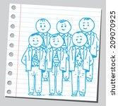 businessmen management team  | Shutterstock .eps vector #209070925