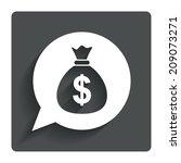 money bag sign icon. dollar usd ...