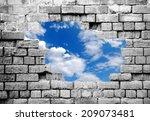 New Life  Grey Crumbling Brick...
