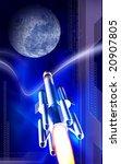 digital illustration of rocket... | Shutterstock . vector #20907805