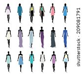 set of female fashion... | Shutterstock . vector #209081791