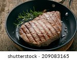 Grilled Beef Steak With...