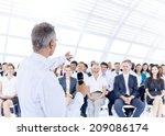 businessman giving presentation ... | Shutterstock . vector #209086174