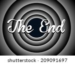 the end typography. old movie... | Shutterstock .eps vector #209091697