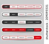 navigation bar set with red ...
