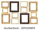 frame on the white background | Shutterstock . vector #209104894