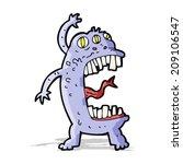 cartoon crazy monster | Shutterstock . vector #209106547