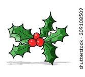 cartoon holly | Shutterstock . vector #209108509