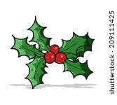 cartoon holly | Shutterstock . vector #209111425