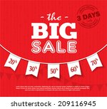 big sale poster | Shutterstock .eps vector #209116945