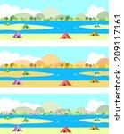 campsite | Shutterstock .eps vector #209117161