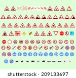 set of traffic signs for... | Shutterstock .eps vector #209133697