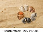 Happy Feet. Stone Arranged Lik...