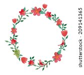 Watercolor Floral Wreath Frame...
