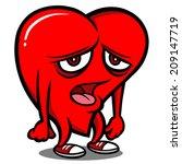 weak heart | Shutterstock .eps vector #209147719